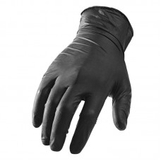 black latex gloves (10 gloves)