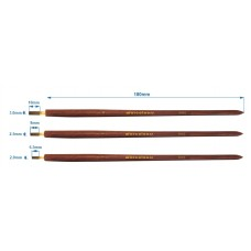 warcolours flat sable brush set - set of 3 brushes