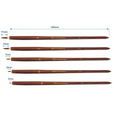 warcolours round sable brush set  - set of 5 brushes