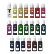 warcolours inks full set (shading and glazing) - 20 bottles
