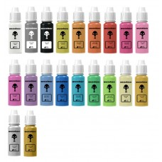 warcolours one-coat paint full set (base coating) - 20 bottles