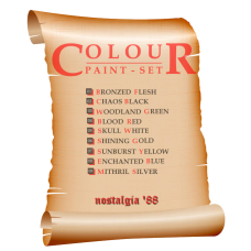 nostalgia '88 Colour Paint Set - 9 bottles