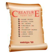nostalgia '88 Creature Paint Set - 9 bottles
