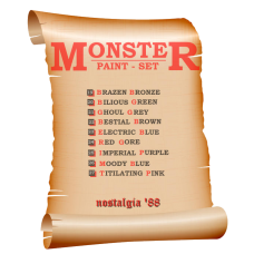 nostalgia '88 Monster Paint Set - 9 bottles