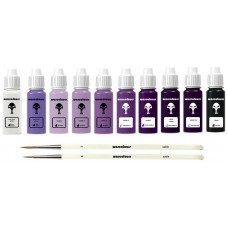 warcolours 'step by step' paint sets - 10 bottles & 2 brushes