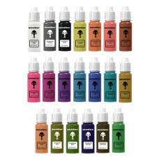 warcolours 'transparent' paint set (layering and effects) - 20 bottles